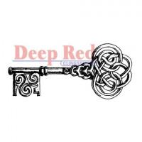 "Deep Red Stamps 3x404241 Резиновый штамп ""Celtic Key"""