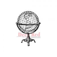 "Deep Red Stamps 3x404267 Резиновый штамп ""Antique Globe"""