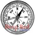 "Deep Red Stamps 3x404268 Резиновый штамп ""Compass"""