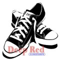"""Deep Red Stamps 3x404282 Резиновый штамп """"All Star Sneakers"""""""