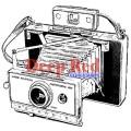 "Deep Red Stamps 3x404452 Резиновый штамп ""Polaroid Camera"""