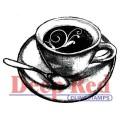 "Deep Red Stamps 3x405019 Резиновый штамп ""Flourish Latte"""