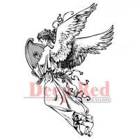 "Deep Red Stamps 3x503070 Резиновый штамп ""Angel with Harp"""