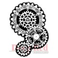 """Deep Red Stamps 3x504244 Резиновый штамп """"Steampunk Gears"""""""