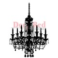"Deep Red Stamps 3x504246 Резиновый штамп ""Chandelier Silhouette"""