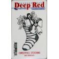 "Deep Red Stamps 3x504411 Резиновый штамп ""Christmas Stocking"""