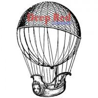 "Deep Red Stamps 3x504433 Резиновый штамп ""Airship"""