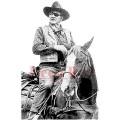 """Deep Red Stamps 3x504461 Резиновый штамп """"John Wayne"""""""