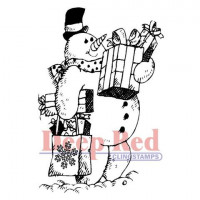 """Deep Red Stamps 3x505106 Резиновый штамп """"Frosty Shopper"""""""