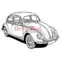 "Deep Red Stamps 4x500022 Резиновый штамп ""VW Bug"""