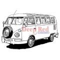 "Deep Red Stamps 4x500023 Резиновый штамп ""VW Bus"""