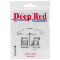 "Deep Red Stamps 4x500030 Резиновый штамп ""Beach Chairs"""