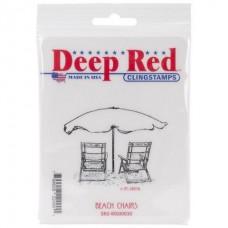 """Резиновый штамп """"Beach Chairs"""" (арт. 4x500030)"""
