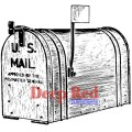 """Deep Red Stamps 4x503094 Резиновый штамп """"Outgoing Mail"""""""