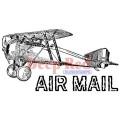 "Deep Red Stamps 4x504262 Резиновый штамп ""Vintage Air Mail"""