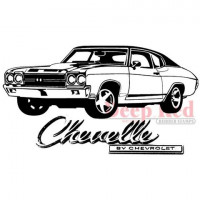 "Deep Red Stamps 4x504263 Резиновый штамп ""Chevelle"""