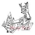 "Deep Red Stamps 4x504428 Резиновый штамп ""Rudolph Reindeer"""