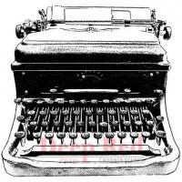 "Deep Red Stamps 4x504454 Резиновый штамп ""Classic Typewriter"""