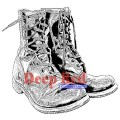 "Deep Red Stamps 4x504459 Резиновый штамп ""Combat Boots"""