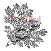 "Deep Red Stamps 4x505110 Резиновый штамп ""Elm Leaves"""