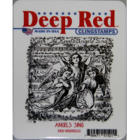 "Deep Red Stamps 4x505111 Резиновый штамп ""Angels Sing"""