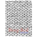 "Deep Red Stamps 4x600062 Резиновый штамп ""Brick Wall Background"""