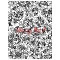 """Deep Red Stamps 4x600064 Резиновый штамп """"Floral Trumpets Background"""""""