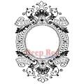 "Deep Red Stamps 4x601101 Резиновый штамп ""Baroque Frame"""