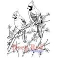 """Deep Red Stamps 4x602032 Резиновый штамп """"Cardinals"""""""