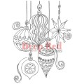 "Deep Red Stamps 4x603102 Резиновый штамп ""Christmas Ornaments"""