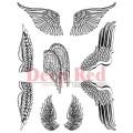 "Deep Red Stamps 4x604292 Резиновый штамп ""Wings"""