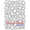 "Deep Red Stamps 4x604425 Резиновый штамп ""Puzzle Background"""