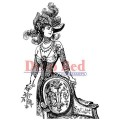 """Deep Red Stamps 4x605039 Резиновый штамп """"Derby Victorian Girl"""""""