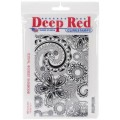 "Deep Red Stamps 5x700060 Резиновый штамп ""Festival Woodcut"""