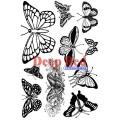 "Deep Red Stamps 5x702001 Резиновый штамп ""Butterfies"""