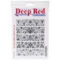 "Deep Red Stamps 5x704002 Резиновый штамп ""Art Deco Borders"""