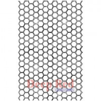 "Deep Red Stamps 5x704472 Резиновый штамп ""Honey Comb"""