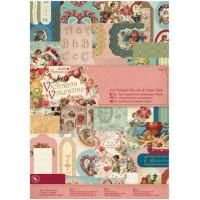 "Docrafts PMA160176 Набор бумаги с высечкой ""Victorian Valentine"""