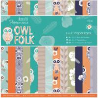 "Docrafts PMA160193 Набор бумаги ""Owl Folk"""