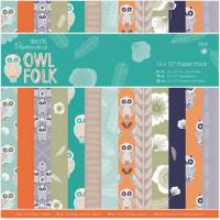"Docrafts PMA160198 Набор бумаги ""Owl Folk"""