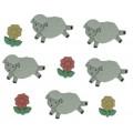"""Dress It Up 5798 Набор декоративных пуговиц """"Считай овец"""""""