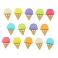 "Dress It Up 6933 Набор декоративных пуговиц ""Мороженое в рожке"""