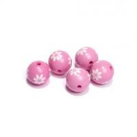 Magic Hobby MG.E8428-2.2 Бусины акриловые, цвет - розовый с цветком