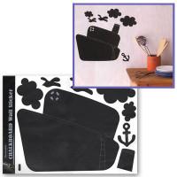 """Mr. Painter WR-03 Наклейки настенные для рисованием мелом """"Пароходик"""""""