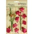"Petaloo 1100-102 Набор цветов бумажных ""Floral Ephemera- Fuschia"" (фуксия)"