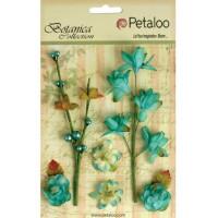 """Petaloo 1100-104 Набор цветов бумажных """"Floral Ephemera- Teal"""" (сине-зеленый)"""
