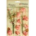 """Petaloo 1100-105 Набор цветов бумажных """"Floral Ephemera- Coral"""" (коралловый)"""