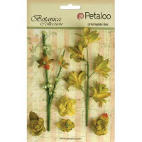 """Petaloo 1100-108 Набор цветов бумажных """"Floral Ephemera- Pistachio"""" (фисташка)"""
