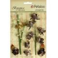 """Petaloo 1100-110 Набор цветов бумажных """"Floral Ephemera- Charcoal Gre"""" (пепельный)"""
