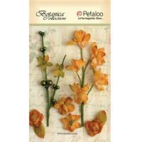"""Petaloo 1100-203 Набор цветов бумажных """"Floral Ephemera- Amber"""" (янтарь)"""